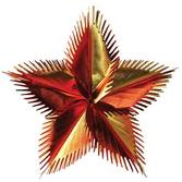 "Thanksgiving Decorations 16"" Gold, Orange, and Red Leaf Starburst Image"