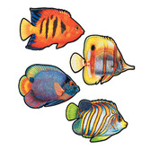 Luau Decorations Coral Reef Fish Cutouts Image
