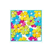 Luau Decorations Hibiscus Flower Confetti Image