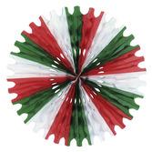 Cinco de Mayo Decorations Red-White-Green Tissue Fan Image