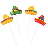 Cinco de Mayo Favors & Prizes Sombrero Suckers Image