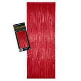 Christmas Decorations Red Metallic Fringe Curtain Image