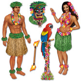 Luau Decorations Hula Girl and Guy Props Image