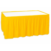 Thanksgiving Table Accessories Golden Yellow Table Skirt Image
