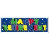 Retirement Decorations Retirement Sign Banner Image