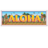 Luau Decorations Tropical Beach Sign Banner Image