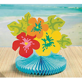Luau Decorations Hibuscus Tissue Centerpiece Image
