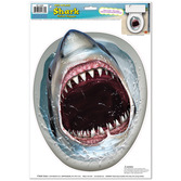 Luau Decorations Shark Toilet Peel n Place Image