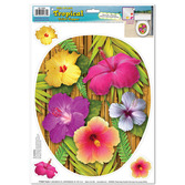 Luau Decorations Tropical Toilet Topper Peel n Place Image
