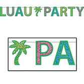 Luau Decorations Glittered Luau Party Streamer Image