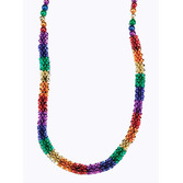 New Years Party Wear Rainbow Flower Beads Necklace Image