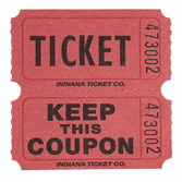 Tickets & Wristbands Red Double Ticket Roll Image