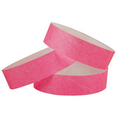 WB Tyvek Wristbands Pink Image