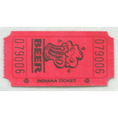 Tickets & Wristbands Red Beer Ticket Roll Image