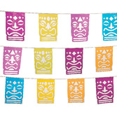Luau Decorations Tiki Cutout Banner Image