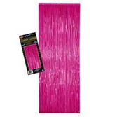 Valentine's Day Decorations Cerise Metallic Fringe Curtain Image