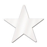 """4th of July Decorations 9"""" White Foil Star Image"""