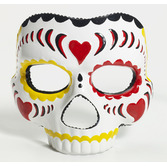 Day of the Dead Party Wear Day of the Dead Female Mask with Elastic Image