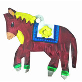 Decorations Horse Tin Ornament Image