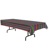 Cinco de Mayo Table Accessories Fiesta Serape Plastic Tablecover Image