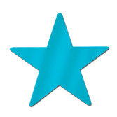 "Decorations 9"" Turquoise Foil Star Image"