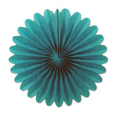 Decorations Turquoise Mini Tissue Fans Image