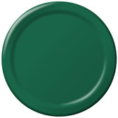 Mardi Gras Table Accessories Hunter Green Dessert Plates Image