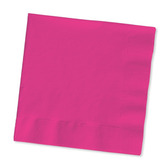 Valentine's Day Table Accessories Hot Pink Beverage Napkins Image