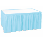 Baby Shower Table Accessories Table Skirt Light Blue Image