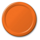 Halloween Table Accessories Orange Dinner Plates Image