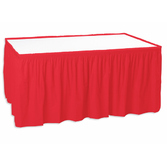 Valentine's Day Table Accessories Table Skirt Red Image