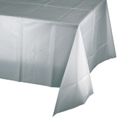 New Years Table Accessories Rectangular Table Cover Silver Image