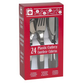 Table Accessories Silver Plastic Cutlery Image