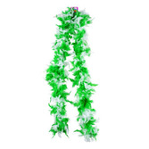 St. Patrick's Day Party Wear Green and White Feathered Boa Image