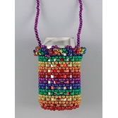 Cinco de Mayo Party Wear Rainbow Beaded Can Holder Image