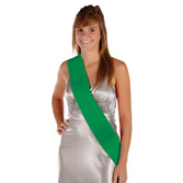 Party Wear Green Satin Sash Image