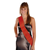 Party Wear Red Satin Sash Image