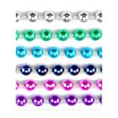 Cinco de Mayo Party Wear Assorted Color Metallic Bead Necklaces Image