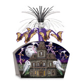 Halloween Decorations Haunted House Centerpiece Image