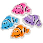 Luau Favors & Prizes Clown Fish Erasers Image