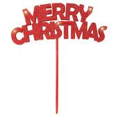 Christmas Favors & Prizes Merry Christmas Flashing Pick Image