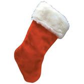 Christmas Favors & Prizes Plush Velvet Stocking Image