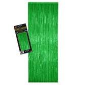 St. Patrick's Day Decorations Green Metallic Fringe Curtain Image