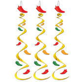 Cinco de Mayo Decorations Chili Pepper Whirls Image
