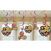 Cinco de Mayo Decorations Fiesta Swirl Danglers Image