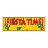 Cinco de Mayo Decorations Fiesta Time Banner Image