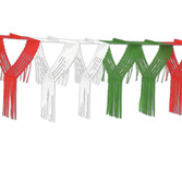Cinco de Mayo Decorations Red-White-Green Drop Fringe Garland Image