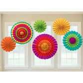 Cinco de Mayo Decorations Fiesta Paper Fans Image