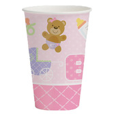 Baby Shower Table Accessories Teddy Baby Pink Cups Image