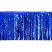 4th of July Decorations Blue Metallic Fringe Drape Image